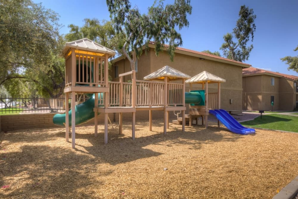 Playground equipment at 505 West Apartment Homes in Tempe, Arizona