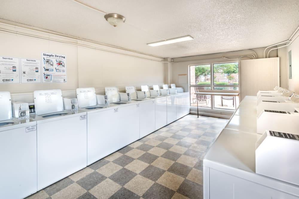 Laundry facility at 8500 Harwood Apartment Homes in North Richland Hills, Texas