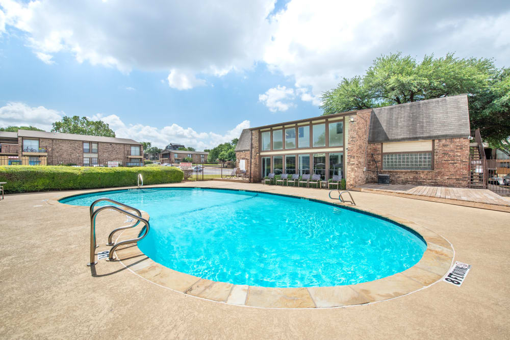 Community pool at 8500 Harwood Apartment Homes in North Richland Hills, Texas