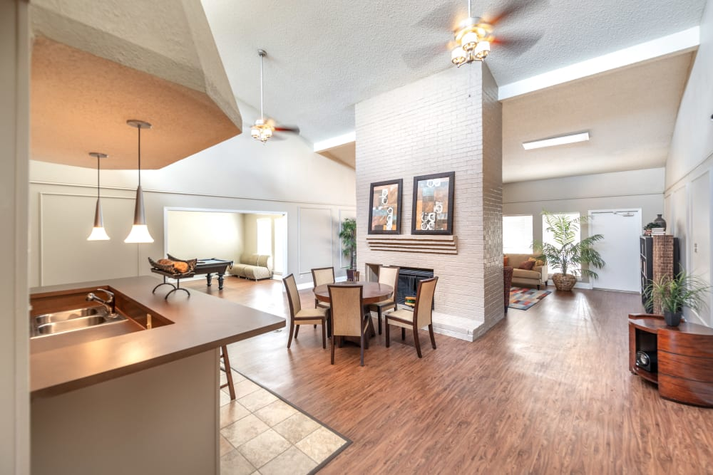 Leasing Center and clubhouse at 8500 Harwood Apartment Homes in North Richland Hills, Texas