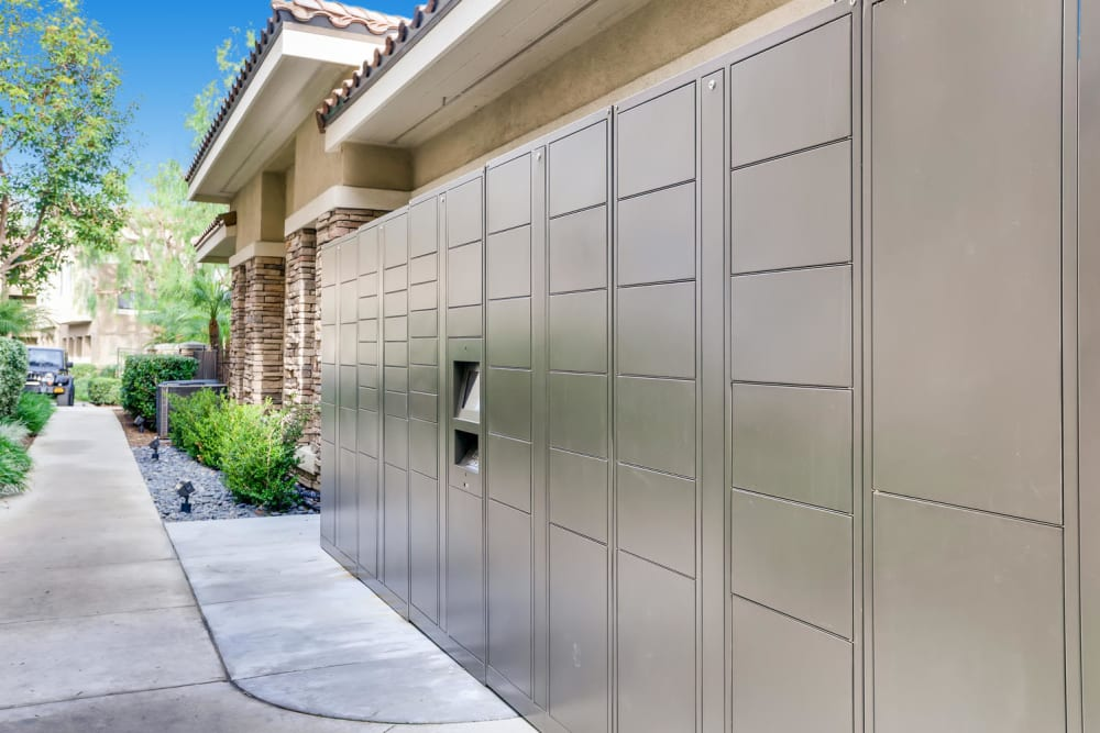 Parcel locker for residents at Alize at Aliso Viejo Apartment Homes in Aliso Viejo, California
