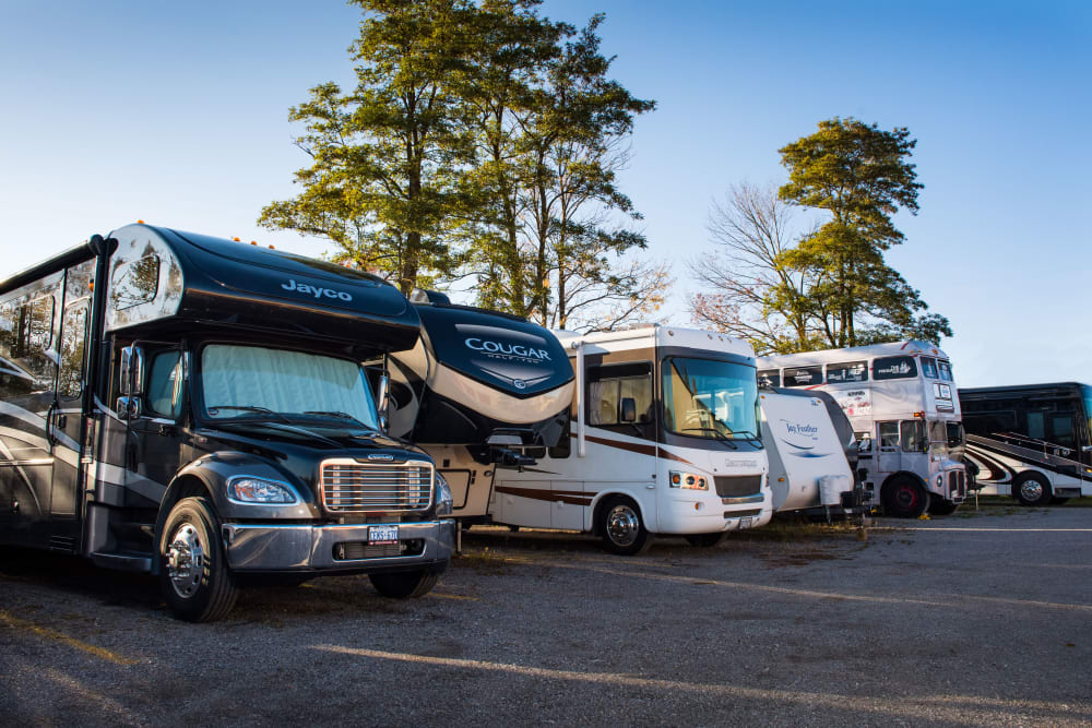 RV parking at Doane Road Storage in Queensville, Ontario