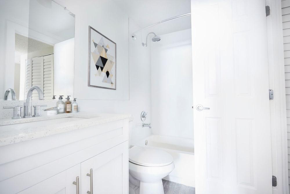 An apartment bathroom at Aliro in North Miami Beach, Florida