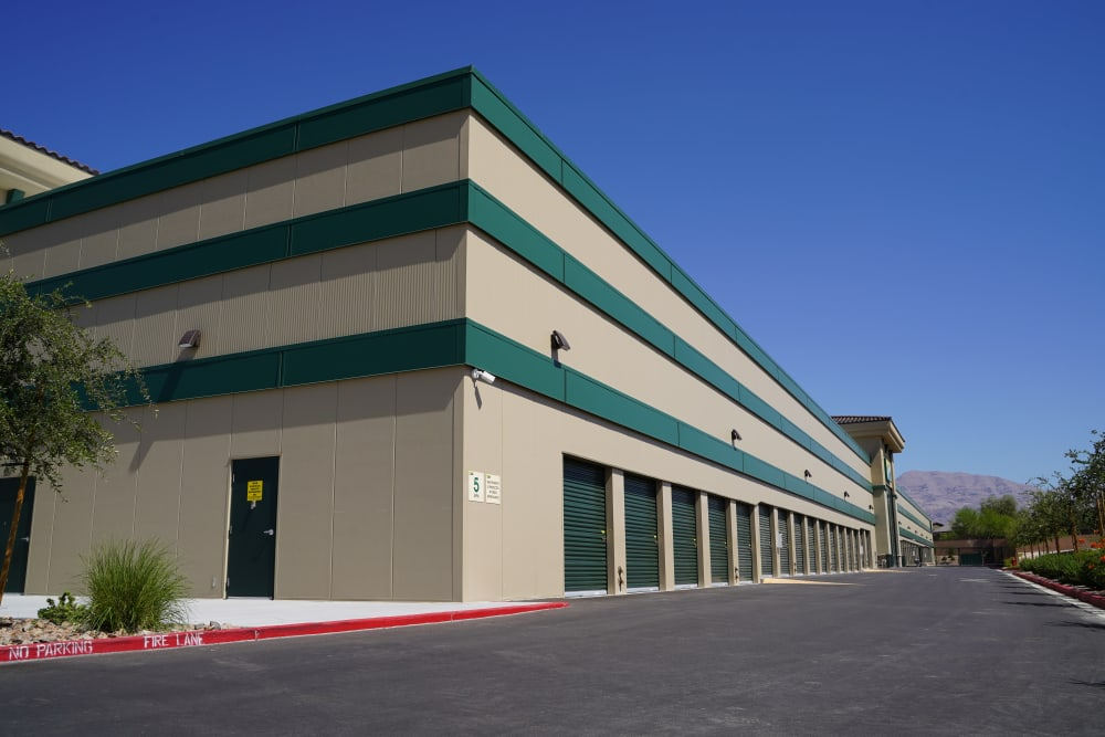 Drive up units at Towne Storage in North Las Vegas, Nevada