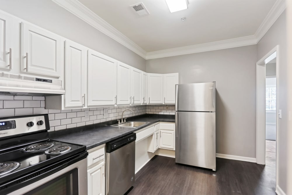 A large apartment kitchen at Crest at East Cobb in Marietta, Georgia
