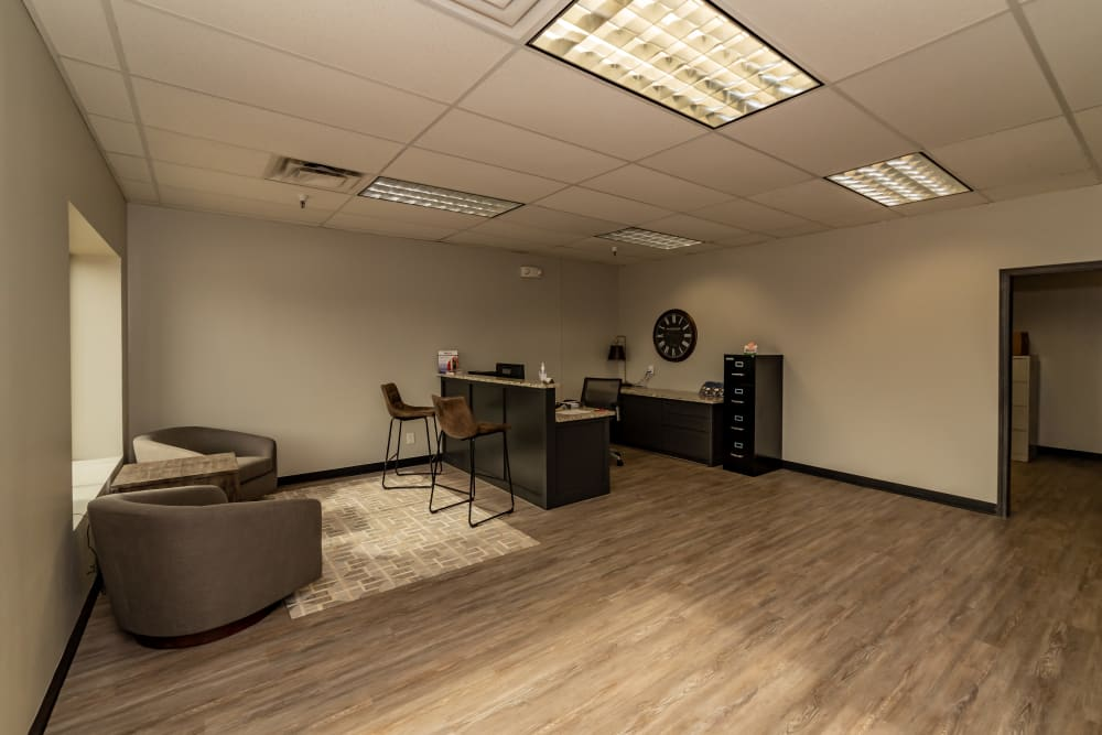 Leasing office at Kenosha Self Storage in Broken Arrow, Oklahoma