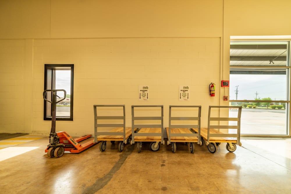 Loading area at Kenosha Self Storage in Broken Arrow, Oklahoma
