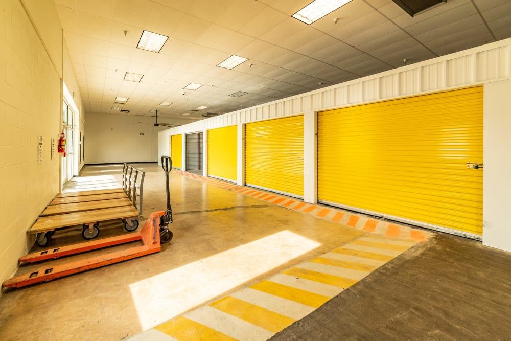 Interior units at Kenosha Self Storage in Broken Arrow, Oklahoma