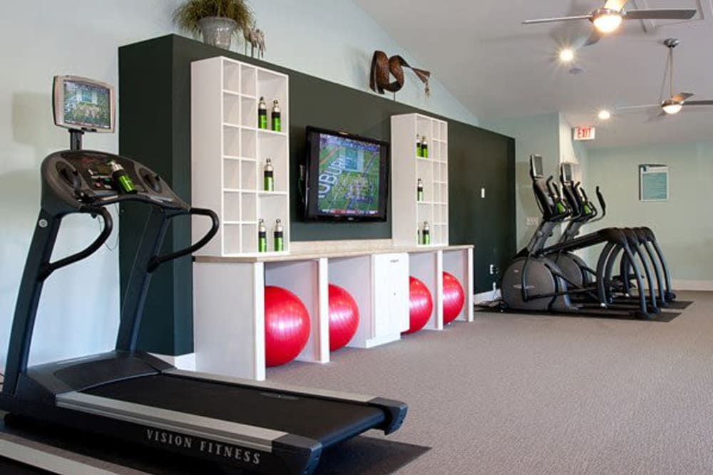 Fitness center with modern equipment at Abaco Key in Orlando, Florida