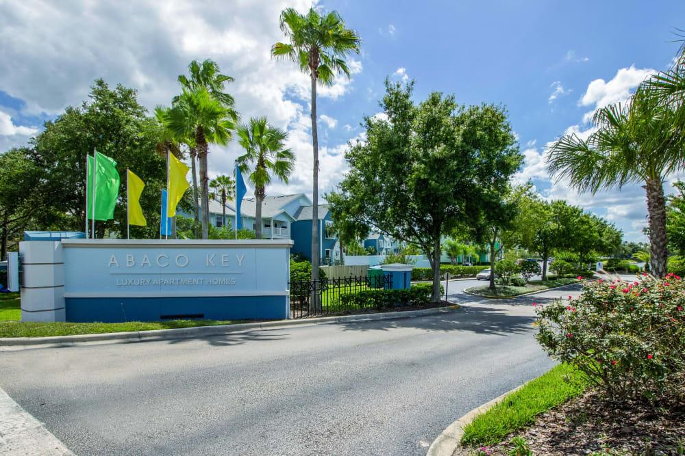 Community sign at Abaco Key in Orlando, Florida