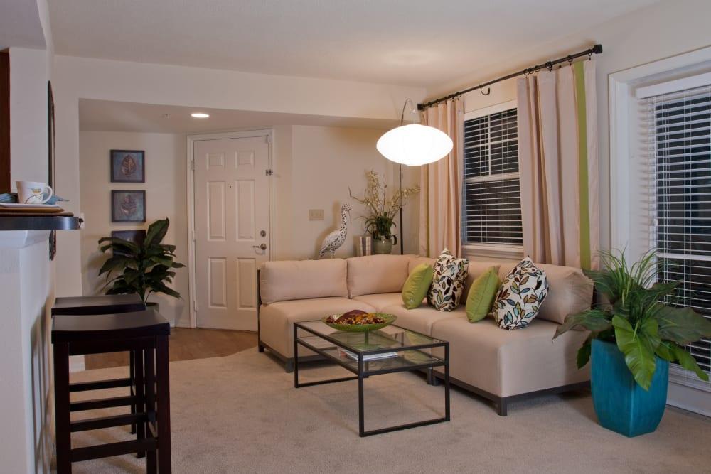 Stylish living room at Abaco Key in Orlando, Florida
