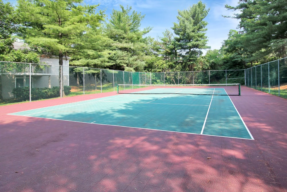 Community tennis courts at The Hamptons at Town Center in Germantown, Maryland