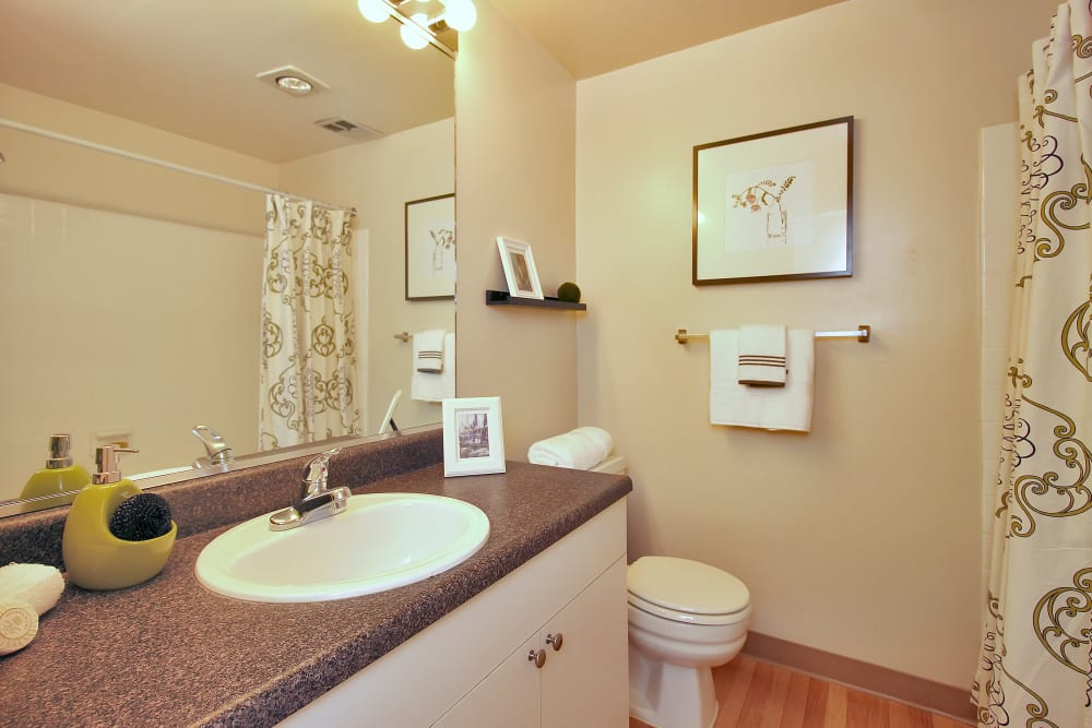 Modern Bathroom at The Hamptons at Town Center in Germantown, Maryland