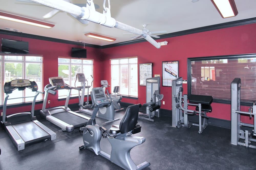 Our Beautiful Apartments in Germantown, Maryland showcase a Fitness Center with modern equipment