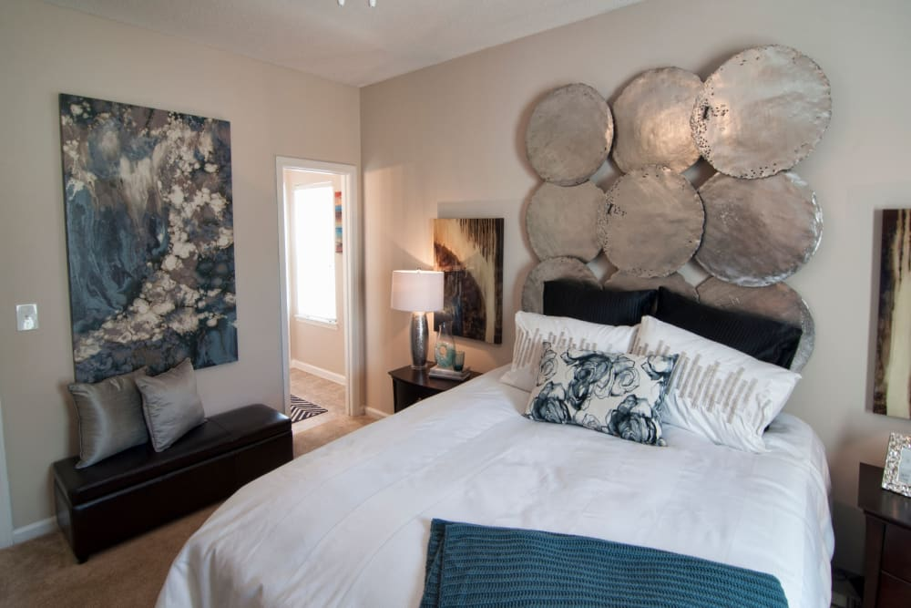 Comfortable size bedrooms are featured at Amber Chase Apartment Homes in McDonough, Georgia