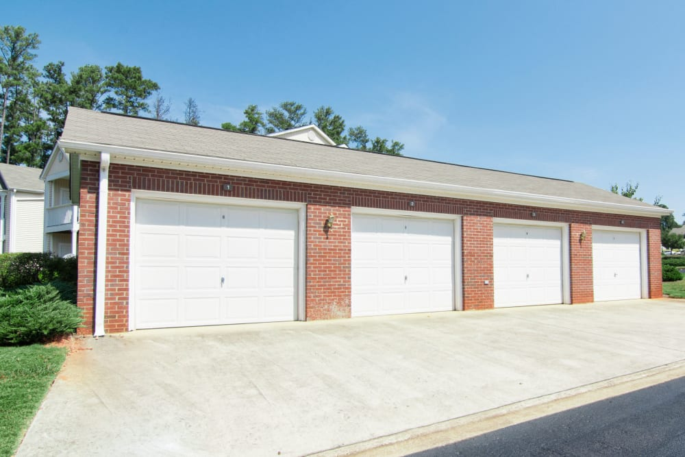 Secure garage parking at Amber Chase Apartment Homes in McDonough, Georgia
