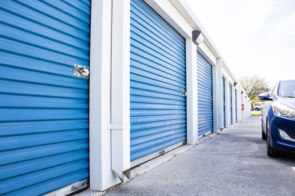 Drive-up units at Atlantic Self Storage in Jacksonville, Florida