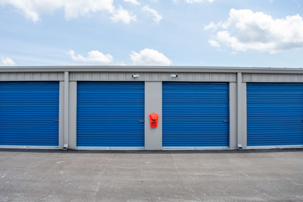 A variety of outdoor storage options at Atlantic Self Storage in Jacksonville, Florida