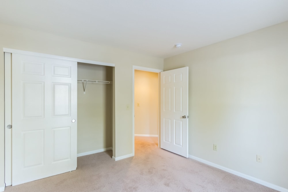 Comfortable bedroom with large closet for ample storage at Alexander Court in Reynoldsburg, Ohio