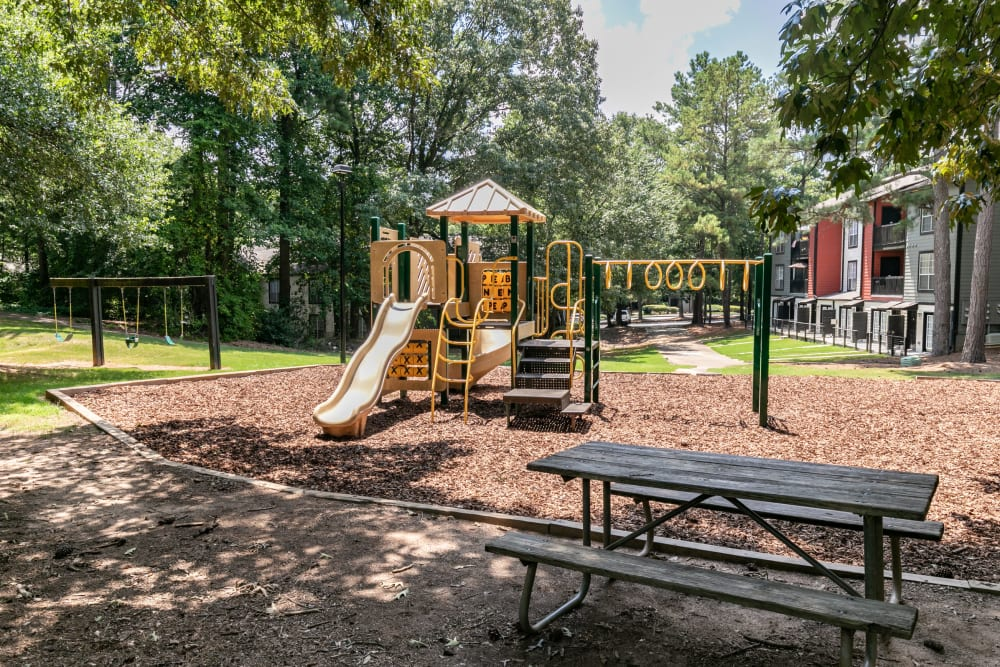 A large playground at The BelAire Apartment Homes in Marietta, Georgia
