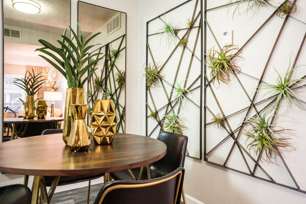 Wall art hung in dining space at 4127 Arcadia in Phoenix, Arizona