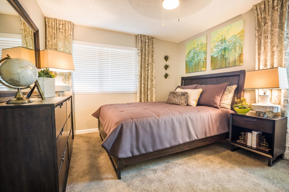 Bedroom featuring art on the walls and fine furnishings at 4127 Arcadia in Phoenix, Arizona