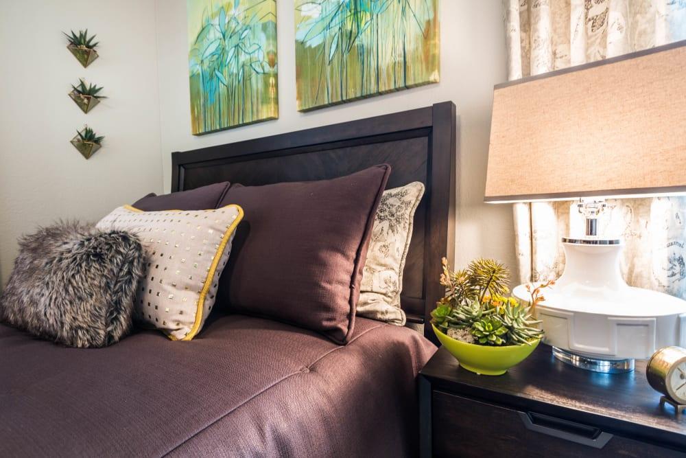 Comfortable bedroom with large window at 4127 Arcadia in Phoenix, Arizona