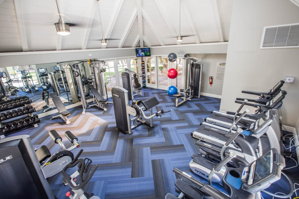 Fitness center features modern equipment and amenities at 4127 Arcadia in Phoenix, Arizona