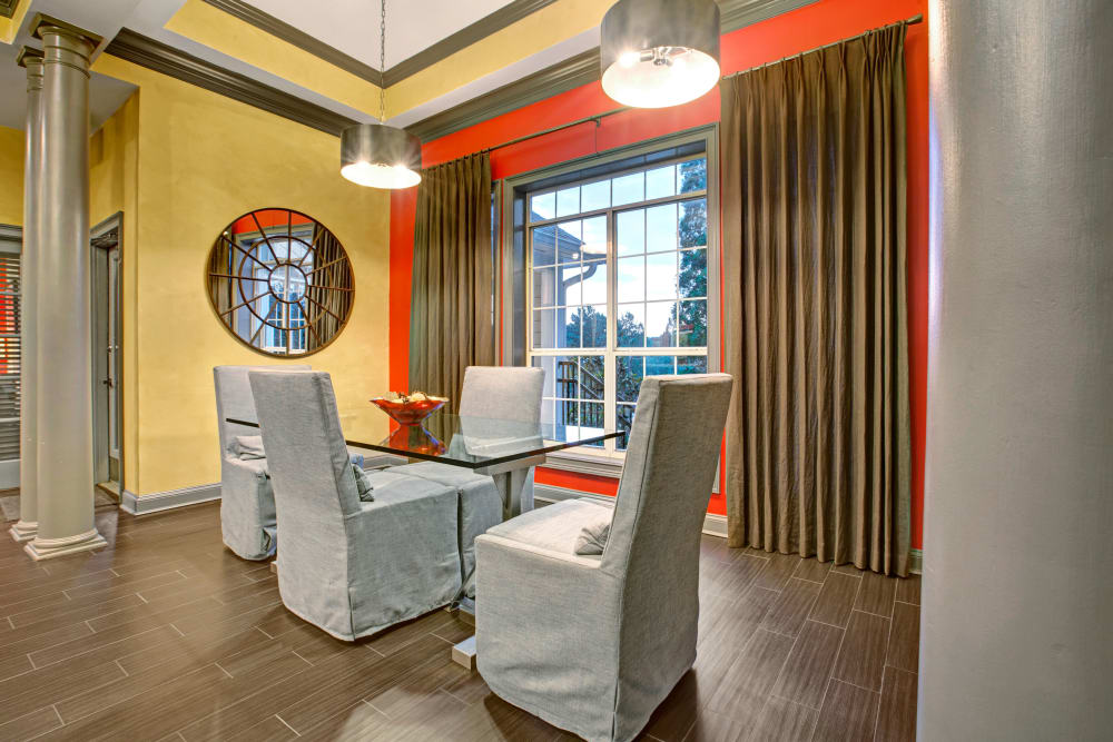 Finally furnished sitting area in Clubhouse at Avia at North Springs in Atlanta, Georgia