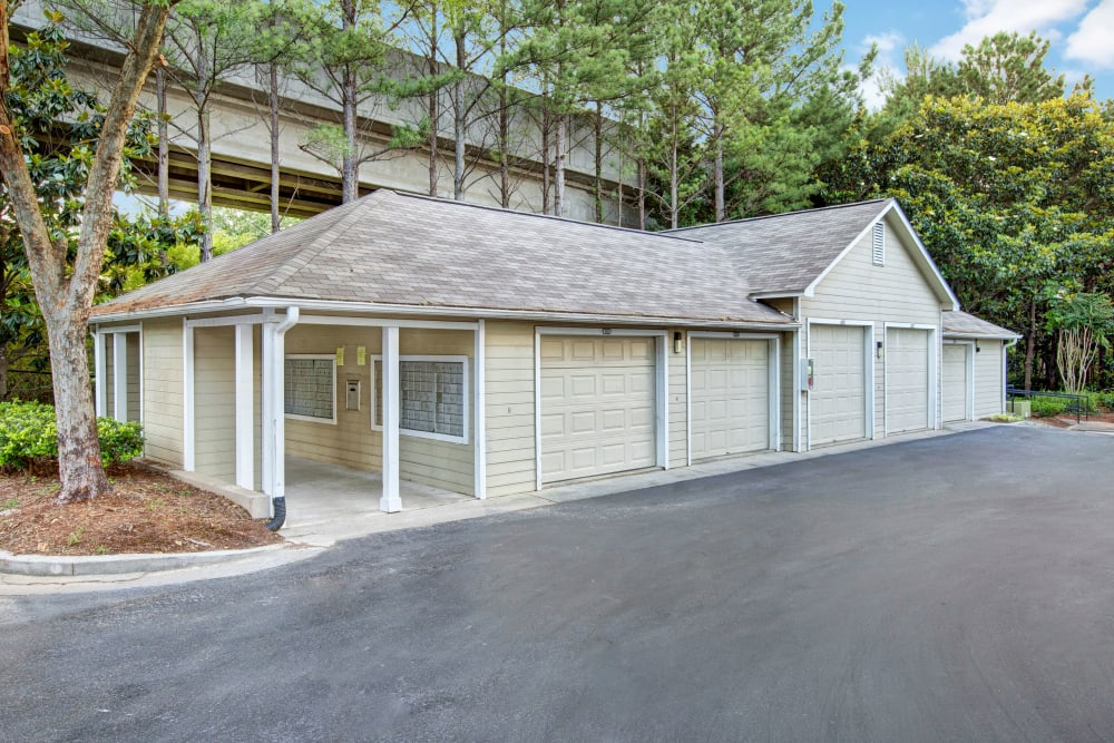 Secure garage parking at Avia at North Springs in Atlanta, Georgia