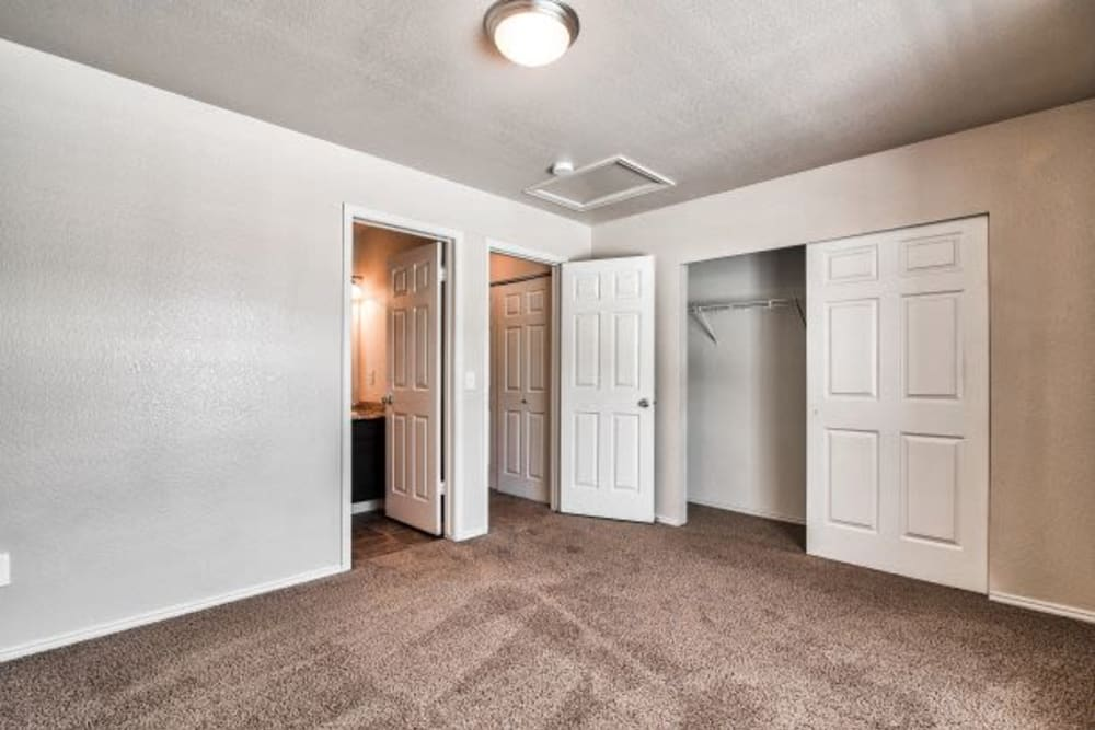 Bedroom at Apartments in Bountiful, Utah
