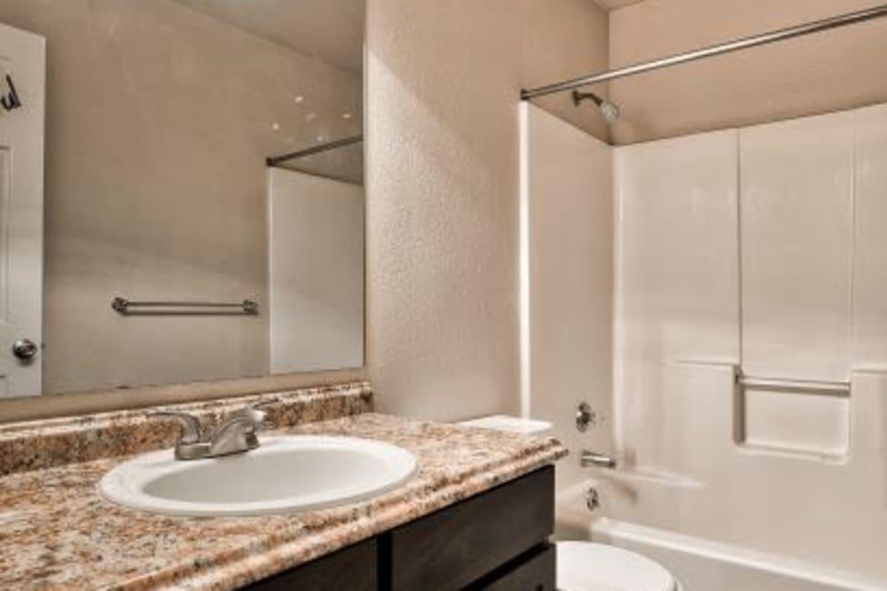 Bathroom at Cherry Lane Apartment Homes in Bountiful, Utah