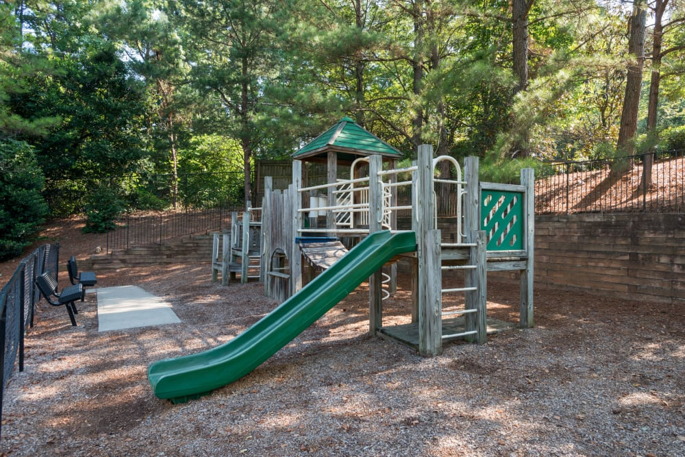 Play ground equipment she did buy mature trees at Bellingham Apartment Homes in Marietta, Georgia