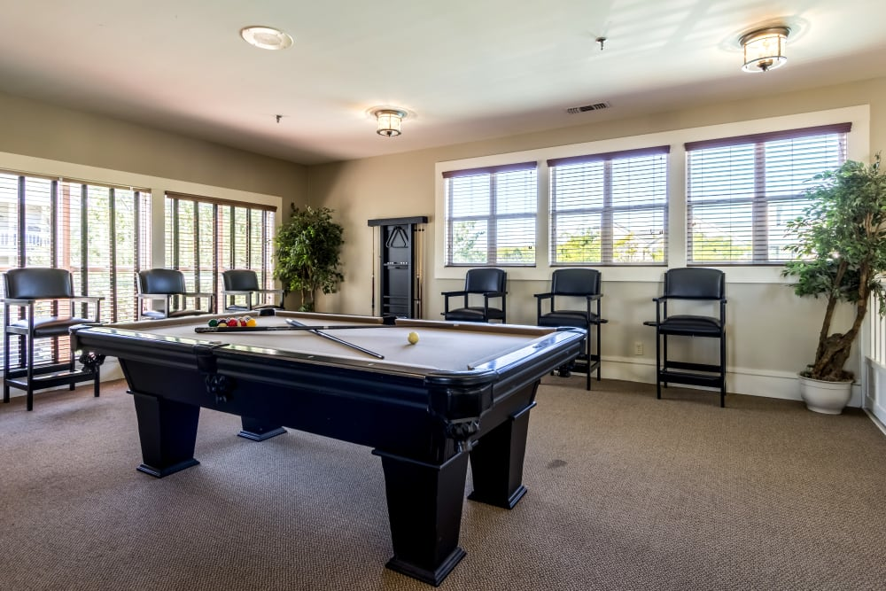 Billiards table in Clubhouse at Britton Woods in Dublin, Ohio