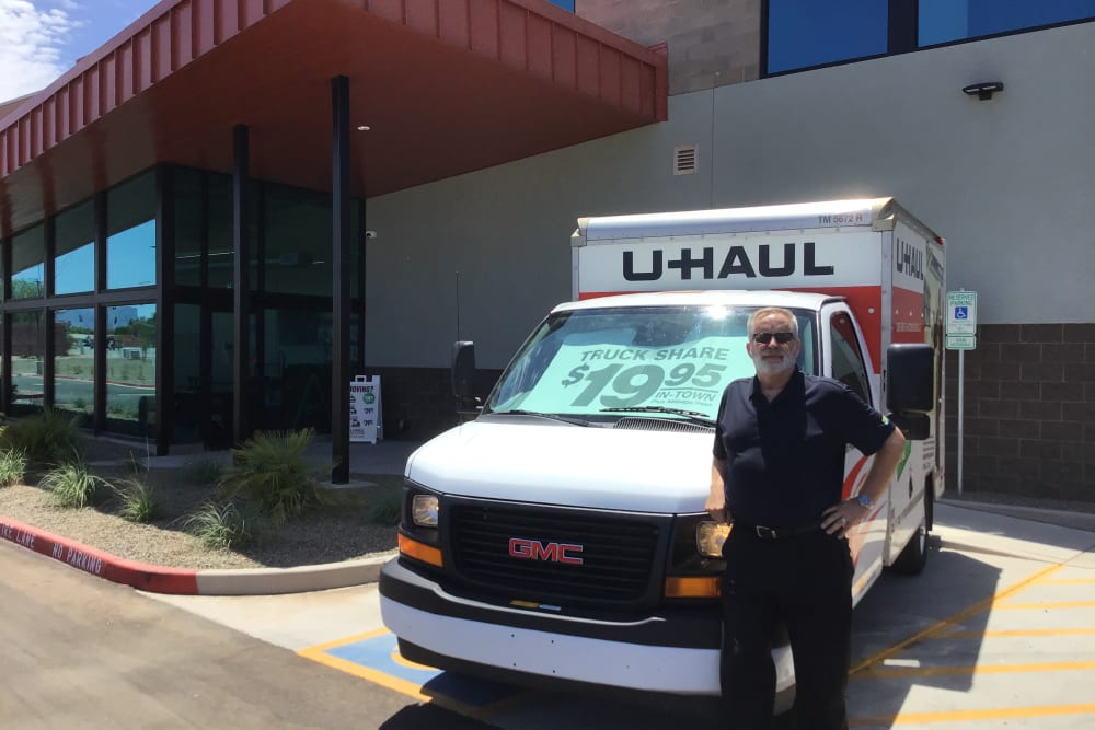 Moving truck at Mesa, Arizona