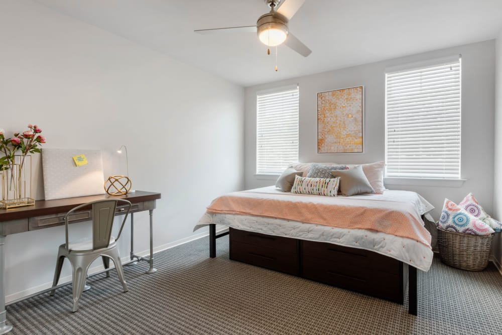 Bright, spacious bedroom at UNCOMMON Oxford in Oxford, Mississippi