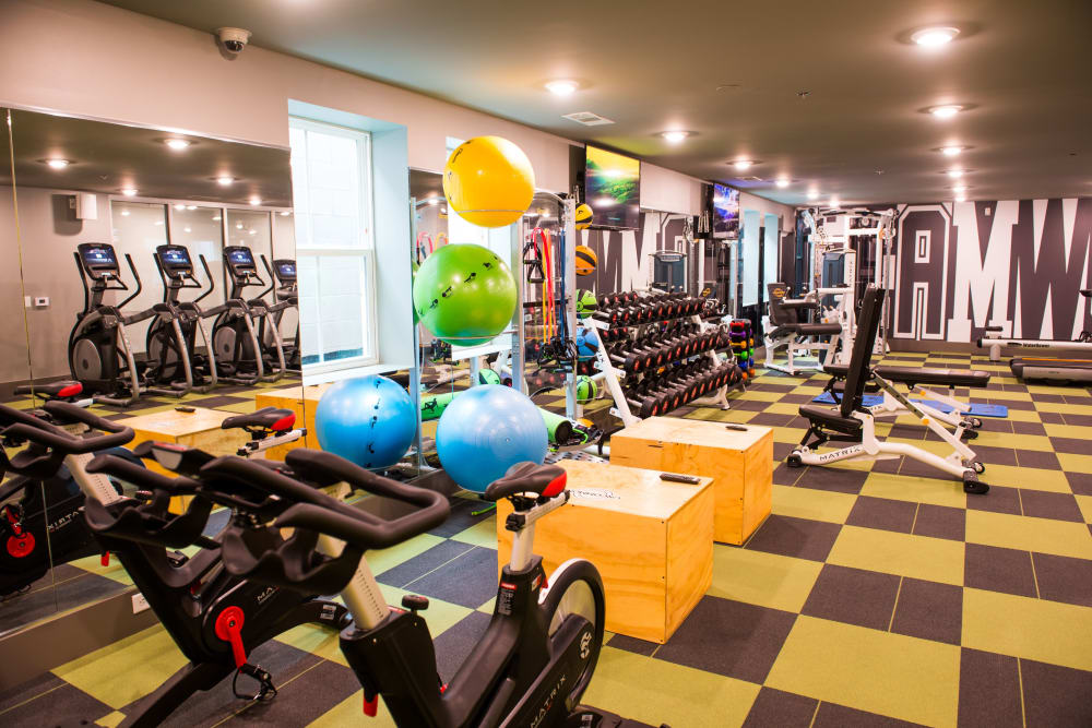 State-of-the-art fitness center at UNCOMMON Oxford in Oxford, Mississippi
