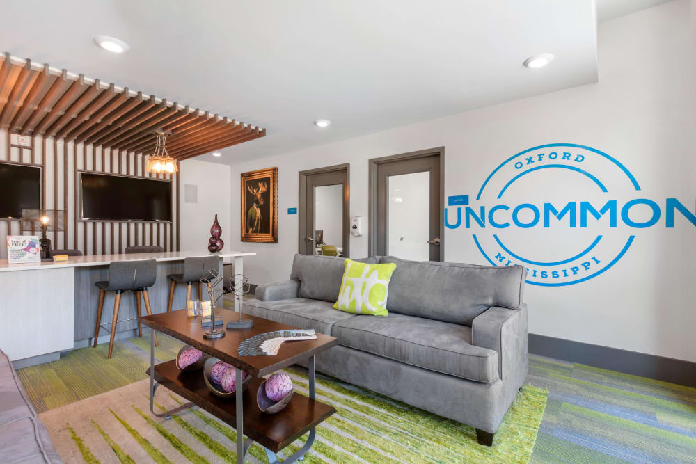 Community clubhouse at UNCOMMON Oxford in Oxford, Mississippi