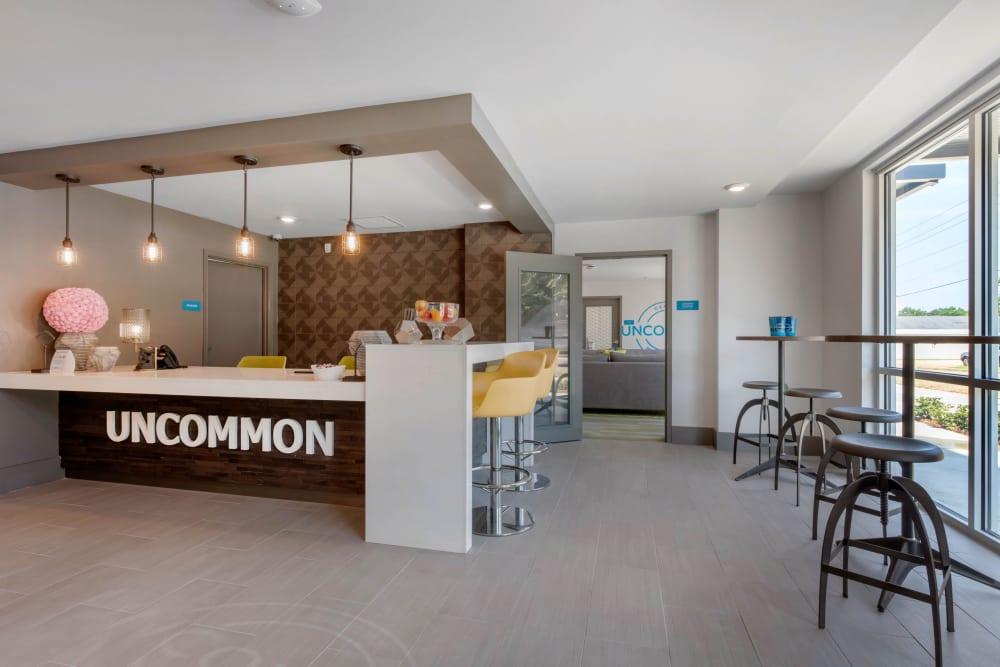 Lobby area at UNCOMMON Oxford in Oxford, Mississippi