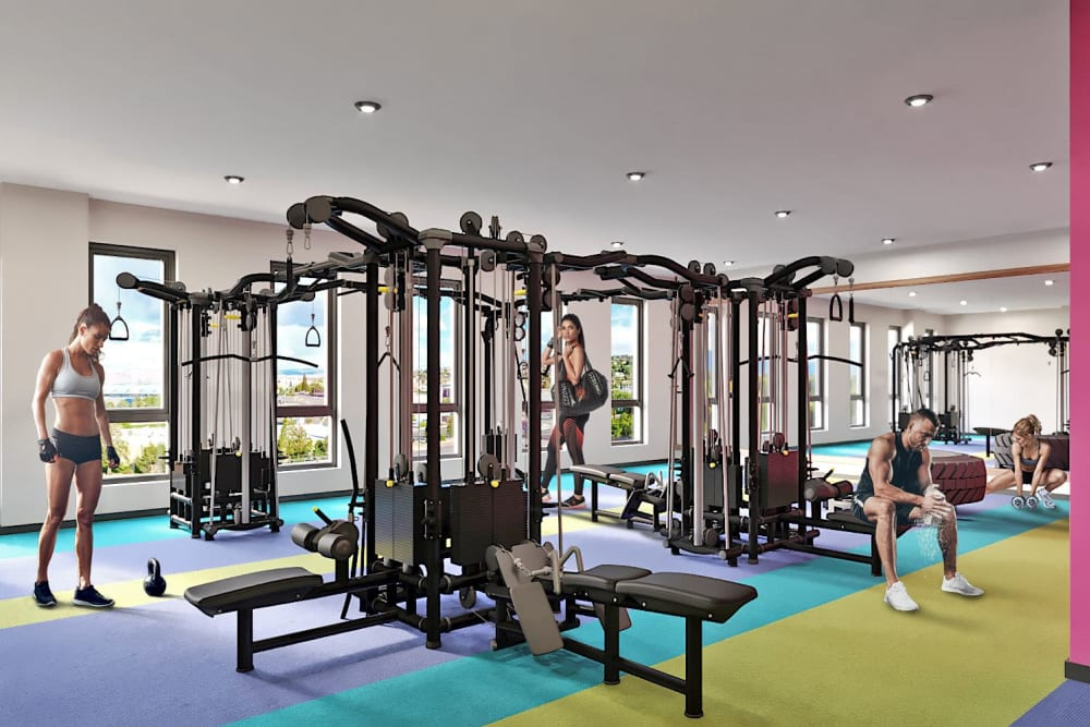 Fitness center for resident at UNCOMMON Reno in Reno, Nevada