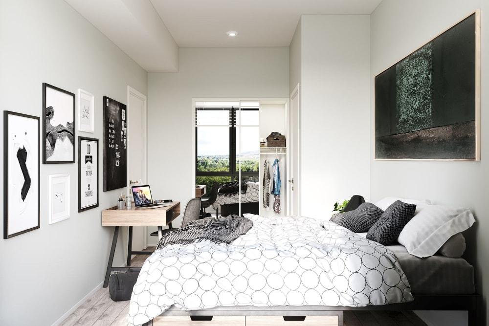 Cozy bedroom at UNCOMMON Reno in Reno, Nevada
