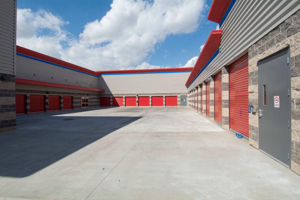 Large driveways at Trojan Storage in Portland, Oregon