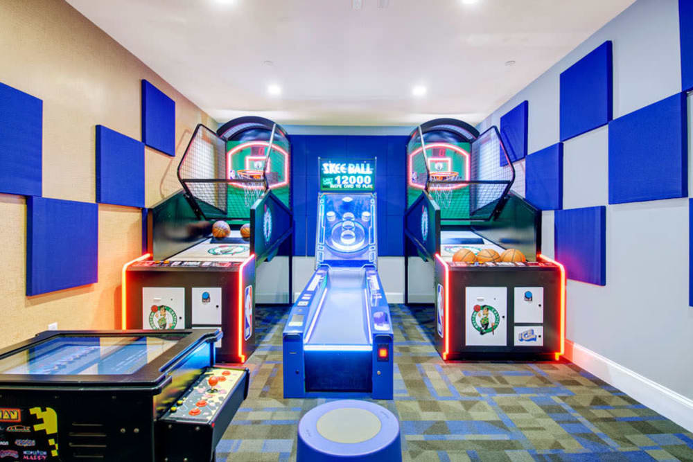Arcade and gaming room at Bradlee Danvers in Danvers, Massachusetts