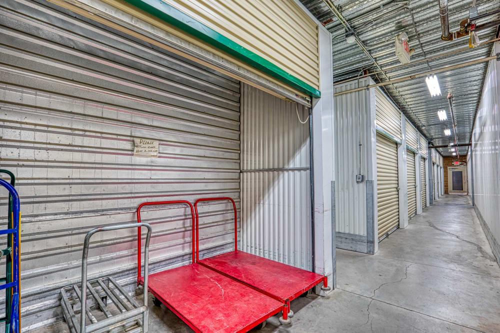 Loading carts at Golden State Storage - Horizon Ridge in Henderson, Nevada