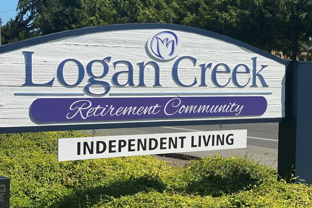 front sign at Logan Creek Retirement Community