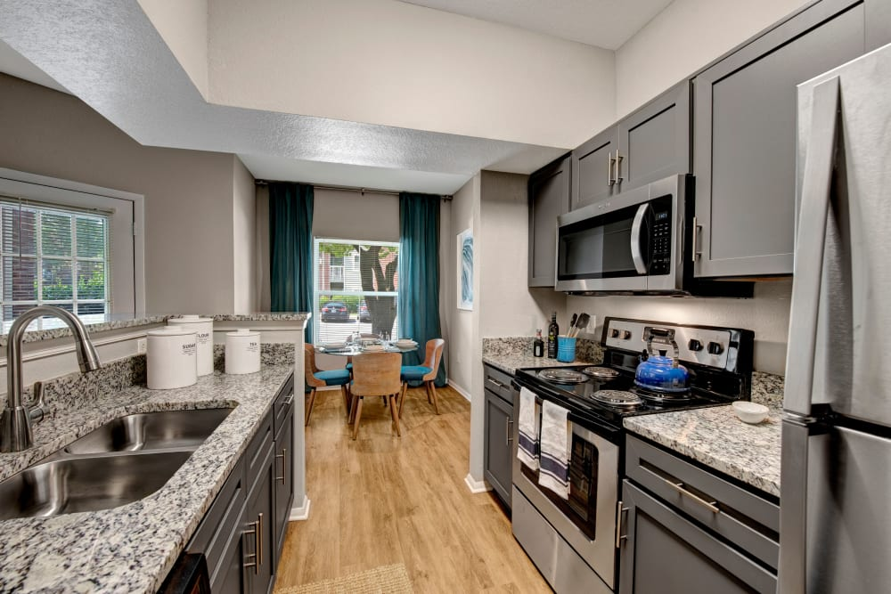 Kitchen at Woodway at Trinity Centre in Centreville, Virginia