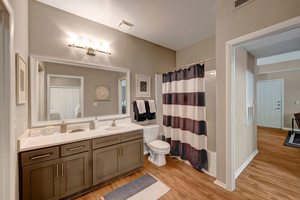 Bathroom at Woodway at Trinity Centre in Centreville, Virginia