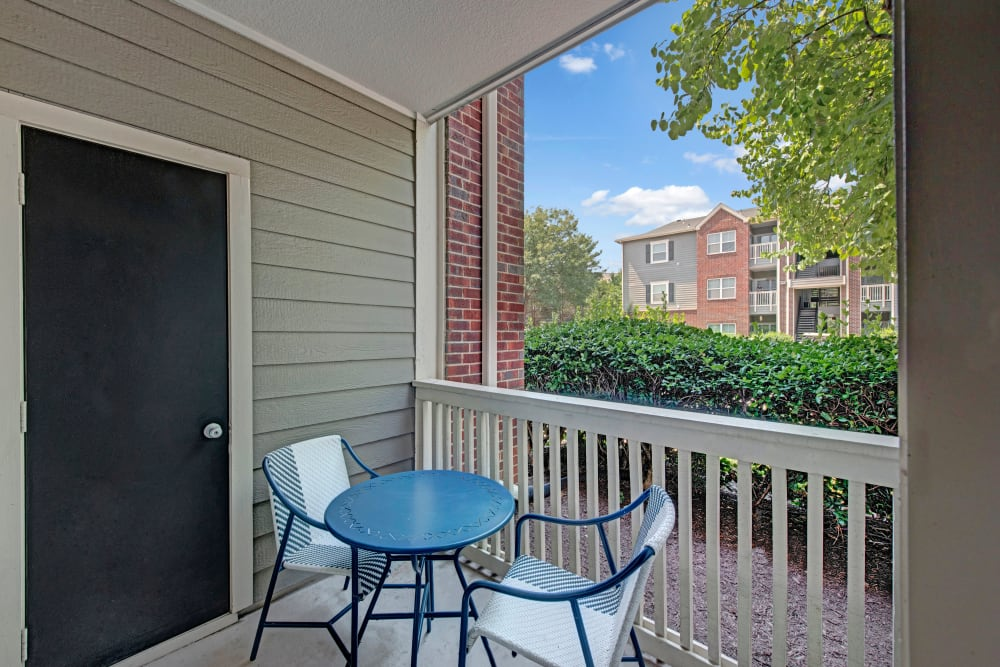 Deck access at Woodway at Trinity Centre in Centreville, Virginia