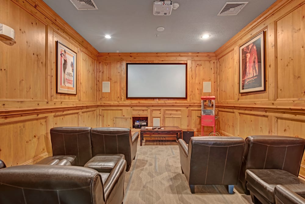 Theater room at Woodway at Trinity Centre in Centreville, Virginia