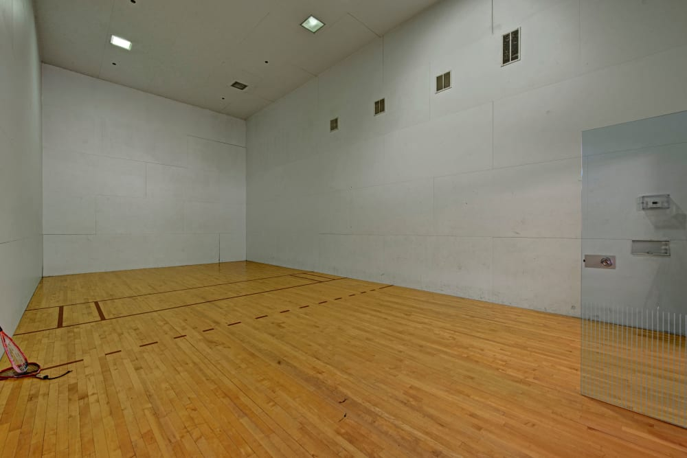 Racquetball court at Woodway at Trinity Centre in Centreville, Virginia
